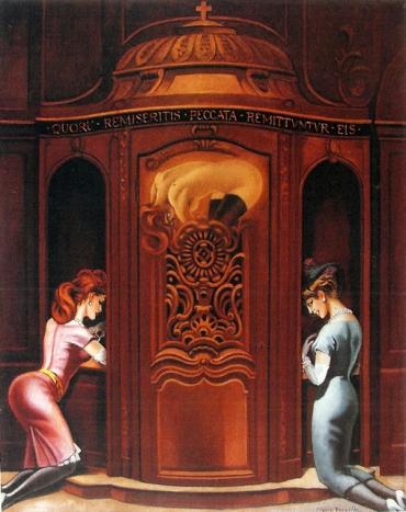 clovis-trouille-Le Confessional.jpg